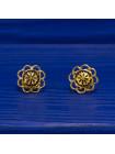 Винтажные серьги-пусеты, выполненные в стиле Дамаскин. Толедо