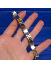 Магнитный браслет с камнями - имитацией различных самоцветов