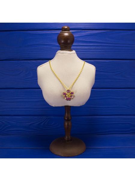 Оригинальное украшение из Сингапура - подвеска (брошь) в форме Орхидеи
