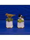 "Пара наперстков ""Thrush и Magpie"" серии BIRDS of BRITAIN от Sutherland"
