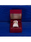 Коллекционный наперсток из костяного фарфора с Санта Клаусом в оригинальной коробочке от Polly-Anna