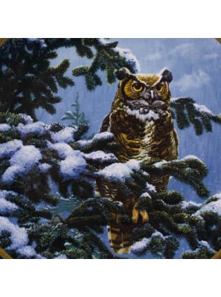"Тарелка Spode ""Winter Vigil"" серии Noble Owls of America"