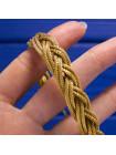 Элегантный винтажный браслет с интересным плетением