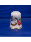Фарфоровый коллекционный наперсток со снеговиком от  Birchcroft