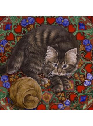 "Тарелка Aynsley ""Ruskin"" (Февраль) из коллекционной серии 12 месяцев Meet My Kittens"