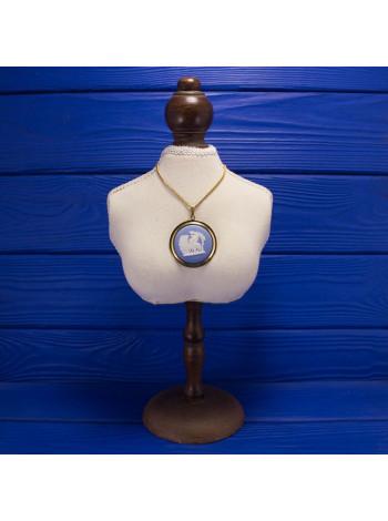 Крупная подвеска от Wedgwood, 1977 год, нежно-голубой джаспер