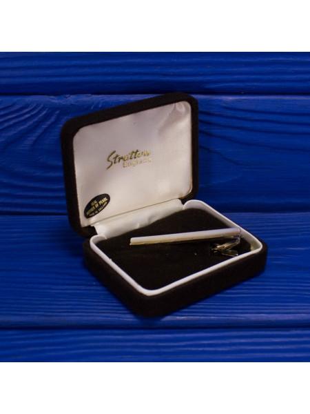 Коллекционный винтажный зажим для галстука с перламутром от Stratton