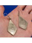 Выразительные серьги из мексиканского серебра, украшенные перламутром