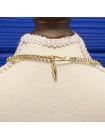 Элегантный винтажный комплект колье и клипсы, украшенные эмалью, 1960-70 годы