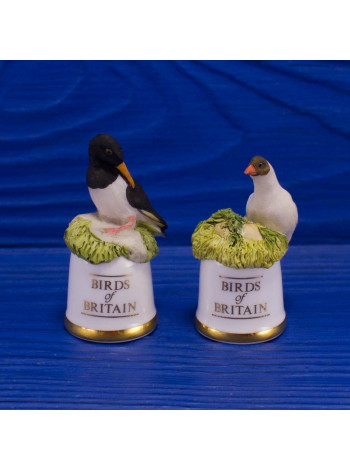 "Пара наперстков ""Oystercatcher и Black-headed Gull"" серии BIRDS of BRITAIN от Sutherland"