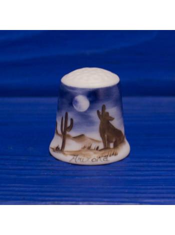 Винтажный наперсток от Heirloom Editions с изображением аризонской пустыни