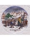 "Тарелка Coalport ""The Christmas Holly Cart 1988"""