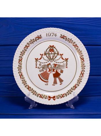 "Тарелка Spode "" Spode Christmas Plate 1974"""