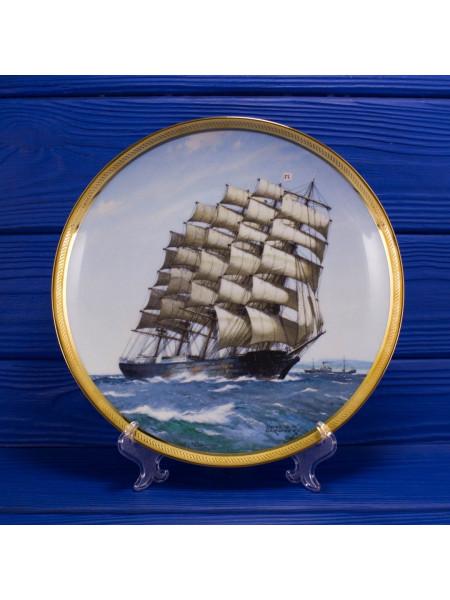 "Тарелка Franklin Mint ""Preussen"" из коллекционной серии The Great Ships of the Golden Age Of Sail"