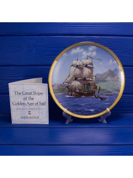 "Тарелка Franklin Mint ""Endeavour"" из коллекционной серии The Great Ships of the Golden Age Of Sail"
