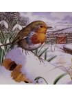 """Тарелка Hammilton Collection номер 0037 """"Dropping in For Christmas"""" из коллекционной серии Robins Christmas"""