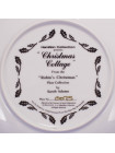 "Тарелка Hammilton Collection номер 0075 с сертификатом ""Christmas Cottage"" коллекционной серии Robins Christmas"