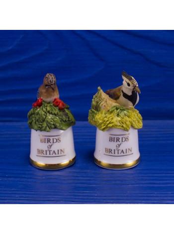 """Пара наперстков """"Jay и Lapwing"""" коллекционной серии BIRDS of BRITAIN от Sutherland"""