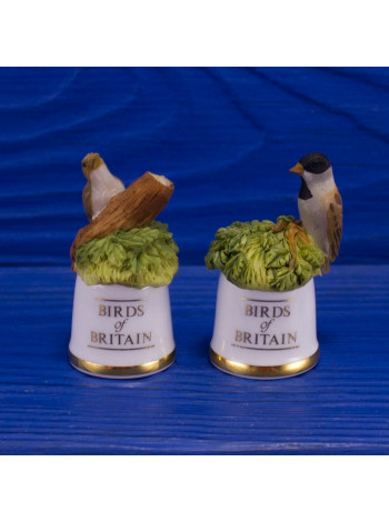 "Пара наперстков ""Treecreeper и Reed Bunting"" коллекционной серии BIRDS of BRITAIN от Sutherland"