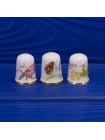 Комплект из трех винтажных коллекционных наперстков: Март, Июль и Ноябрь от Caverswall