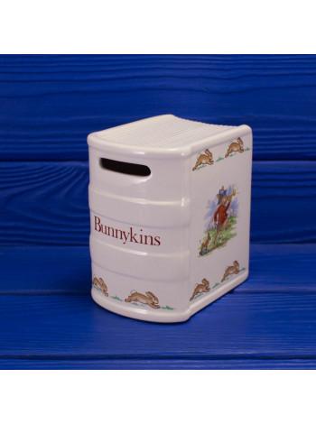 """Редкая винтажная копилка в форме книги от Royal Doulton """"Bunnykins"""""""