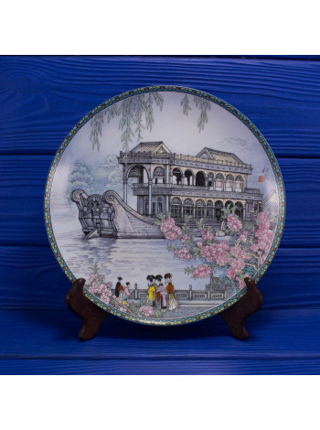 "Коллекционная тарелка от Imperial Jingdezhen Porcelain ""Hall That Dispels The Clouds"""