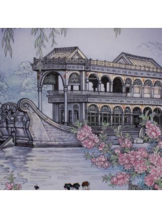 """Коллекционная тарелка от Imperial Jingdezhen Porcelain """"Hall That Dispels The Clouds"""""""