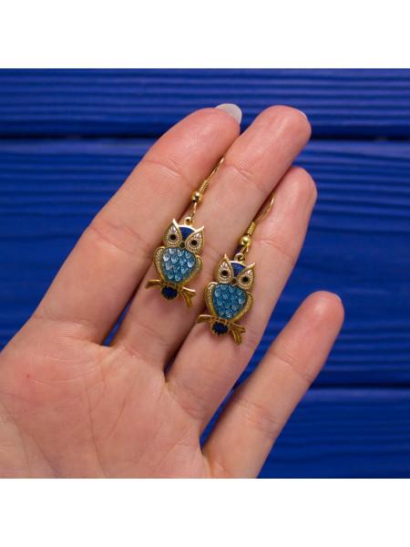 Нарядные серьги с совушками от Sea Gems