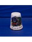 Комплект коллекционных наперстков с изображением английских винтажных паровозов