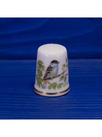 Коллекционный наперсток с птичкой на ветке
