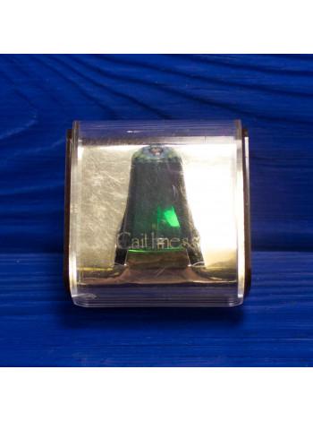 Наперсток зеленый в оригинальной коробочке в технике Millefiori