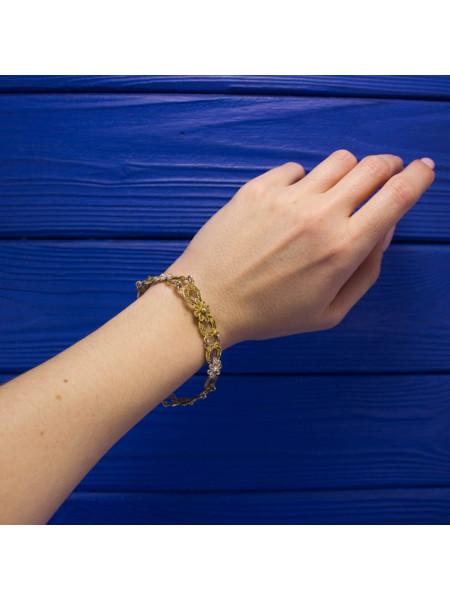Нарядный винтажный филигранный браслет