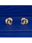 Элегантные винтажные клипсы, украшенные эмалью