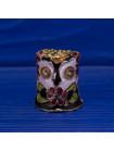 Великолепно выполненный коллекционный наперсток клуазоне в форме головы совы