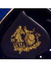 Блюдце Limoges в форме пики из коллекции карточных мастей: кобальт с позолотой