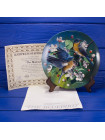 "Тарелка от Knowles, Edvin M.  15126 G ""The Bluebird"" коллекционной серии ""Encyclopedia Britannica Birds of Your Garden Collection"""