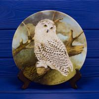 """Тарелка Coalport 2467A """"Snowy Owl"""""""