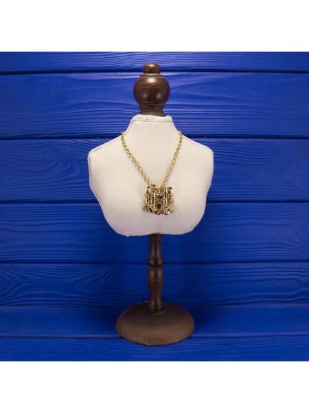 Редкая коллекционная позолоченная подвеска Mermaid Castel - замок Ариэль, героини мультфильма Русалочка. Позолота 14К и кристаллы Swarovski