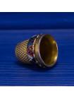 Нарядный металлический сувенирный наперсток из Толедо