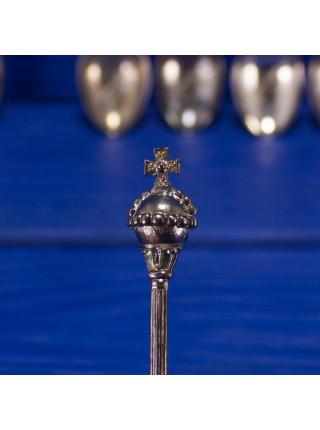Комплект из шести посеребренных ложек, выпущенный в 1977 году в честь серебряного юбилея (25 лет) царствования королевы Елизаветы II