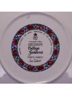"""Винтажная тарелка """"Powys March"""" из костяного фарфора коллекционной серии Cottage Gardens от Royal Worcester"""