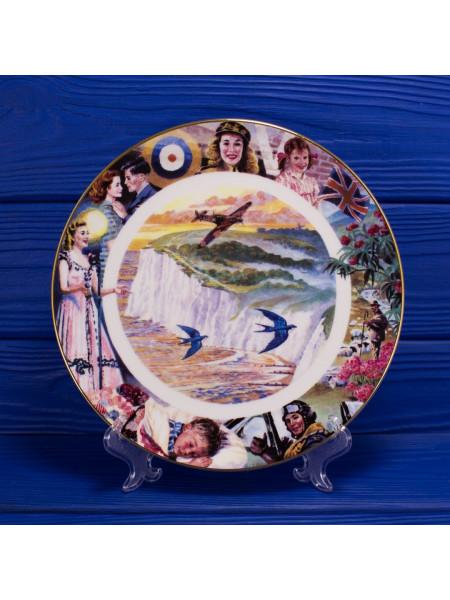 Декоративная тарелка № 1058A The White Cliffs of Dover, выпущенная специально для Royal British Legion