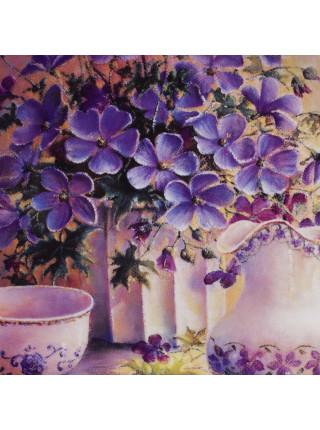"""Декоративная тарелка """"Azure Variatioms"""" из коллекционной серии Music of Flowers от Wedgwood"""