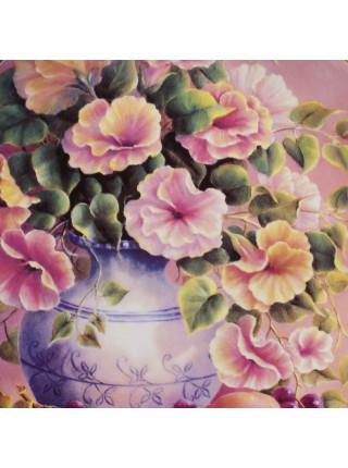 "Декоративная тарелка ""Coral Lullaby"" из коллекционной серии Music of Flowers от Wedgwood"