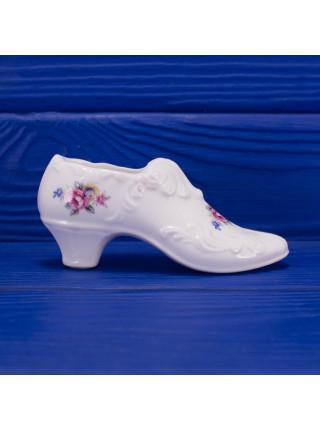Винтажная коллекционная фарфоровая туфелька с цветами из Англии