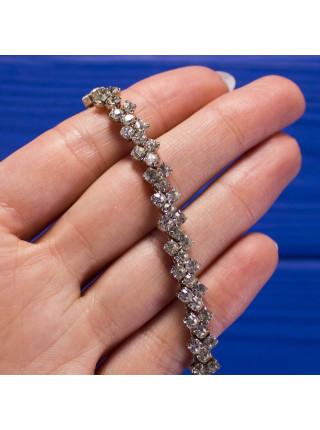 Лаконичный винтажный браслет с искристыми кристаллами