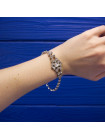 Сверкающий браслет с искристыми кристаллами
