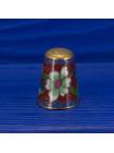 Нежный коллекционный наперсток клуазоне, нарядно украшенный эмалью