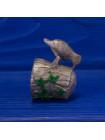 Наперсток в форме подвижной фигурки дятла на стволе дерева серии The Surprise Collection от Thimble Collectors Club
