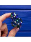Изысканная брошь с крупными кристаллами двух оттенков 1960-х годов